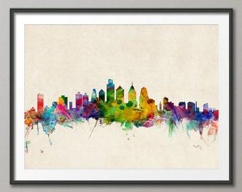 Philadelphia Skyline, Philadelphia Pennsylvania Cityscape Art Print (520)