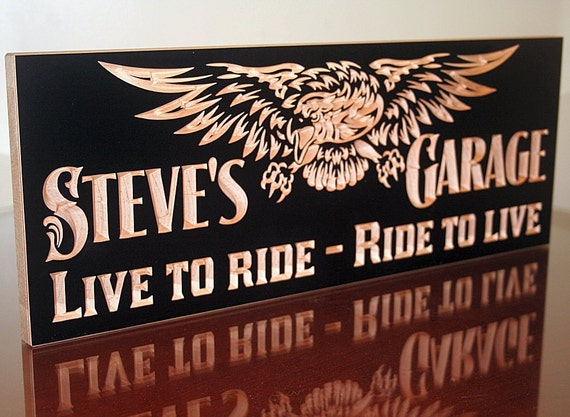 Motorcycle Man Cave Signs : Motorcycle sign garage guy gift tool rules signs man