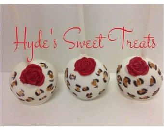 Leopard cake pops