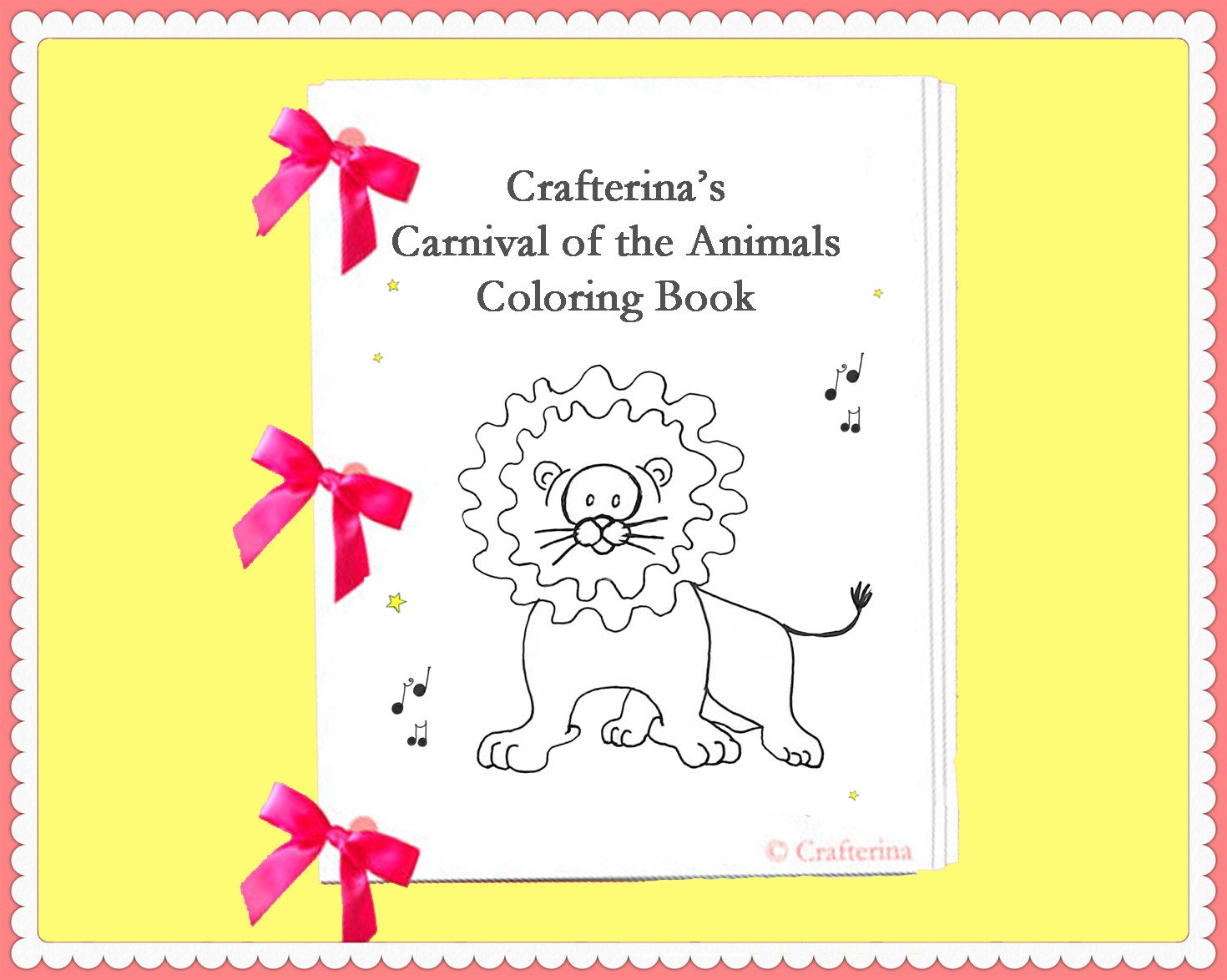 Carnival Of The Animals Printable Coloring Ribbon Book Pdf Carnival Of The Animals Coloring Pages
