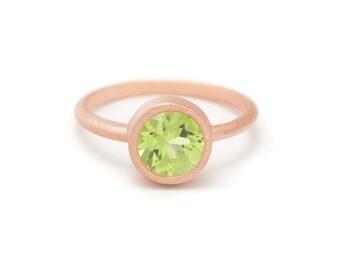 Peridot in Gold Gemstone Ring - Gold Ring - Gemstone Ring - Peridot Ring - Sizes 4.5, 5, 5.5, 6, 6.5, 7, 7.5, 8, 8.5, 9, 9.5 and 10