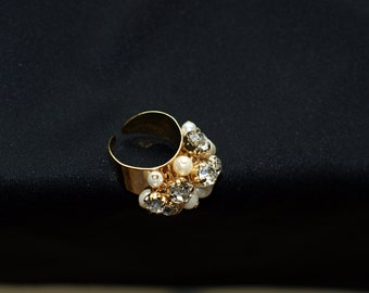 Chic elegant ring high quality custom jewelry( come with velvet pouch and  small gift)