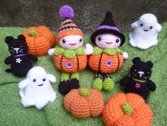 Pumpkin Patch People,  Amigurumi Dolls Crochet Pattern