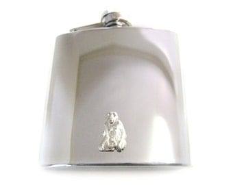 Monkey 6 oz. Stainless Steel Flask