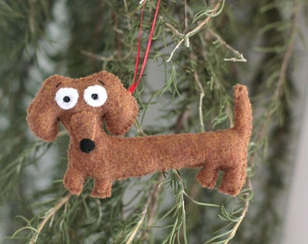 Super Cute Dachshund Wiener Dog Ornament