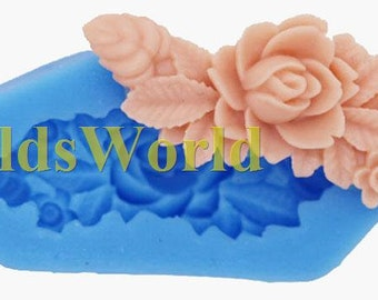A369  Flower Cabochon Polymer Clay Silicone Mold Food Grade Silicon Crafts Mould 45mm