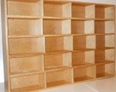 Sake Cup Cabinet, Woodworking, Collection Display Cabinet, Miniature Collection Cabinet, Dan Leasure