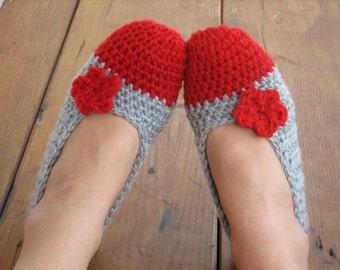 Crochet Women Slippers , Accessories, Adult Crochet Slippers,  Home Shoes, Crochet  Women Slippers