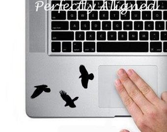 Raven Trio Vinyl Decal for Macbook Trackpad