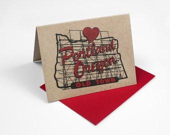 In the Heart of Portland 4x5 Notecard