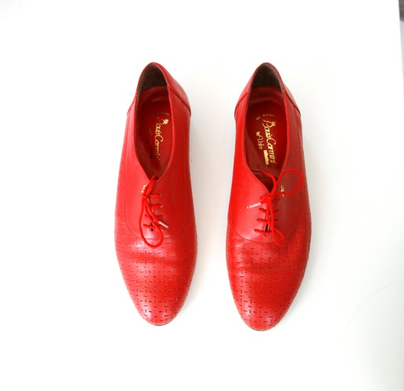 Vintage 80s Men's Oxfords Red Jazz Shoes Style by ...