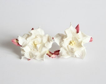 10 pcs - 4 cm White gardenia flower