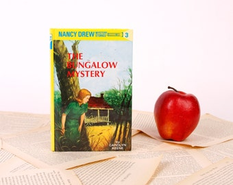 Nancy Drew Book Kindle Cover, Nook Cover- Ereader Case- Nancy Drew- The Bungalow Mystery