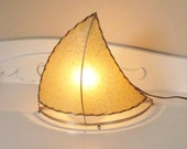 Atomic Eames Era Sail Boat Nautical Fiberglass Lamp