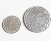Ottoman Empire Turkey Silver Coins 20 Kurush 5 Kurush 830 Silver