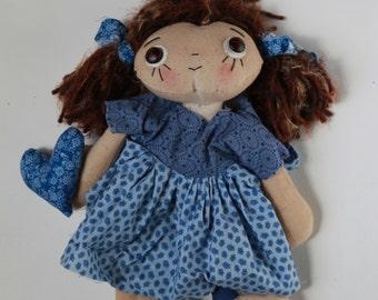 Primitive doll handmade