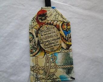 Luggage tag Caribbean Pirate Skull Travel Accessory Cruise Destination Wedding Favor ID Golf Athletic Bag Neon Beach Ocean Limited Edition