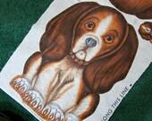 Beagle Dog -  Pillow Fabric Panel - 1950's Vintage
