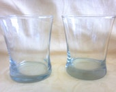 CLEAR BARWARE two nice and sturdy retro drinking cocktail juice drinking glasses