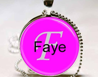 Faye Name Pendant Name Monogram Handcrafted  Necklace Pendant (NPD1708)