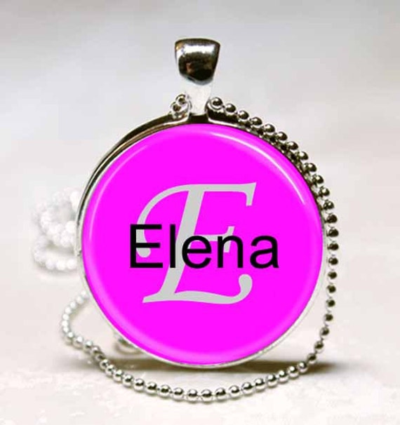 dd82e8cc0aec monograma de nombre elena name colgante artesanal collar