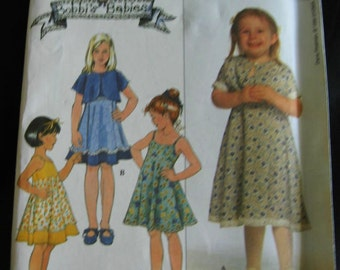Simplicity Girls Sundress and Jacket Pattern 8596 Size  5 6 7 8 UC FF