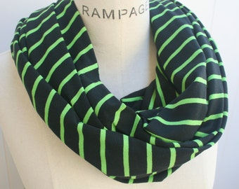 Green Infinity Scarf scarves, jersey scarf, Christmas holiday gifts ideas, loop scarf, womens gift for mom, loop Scarf, Winter Scarf