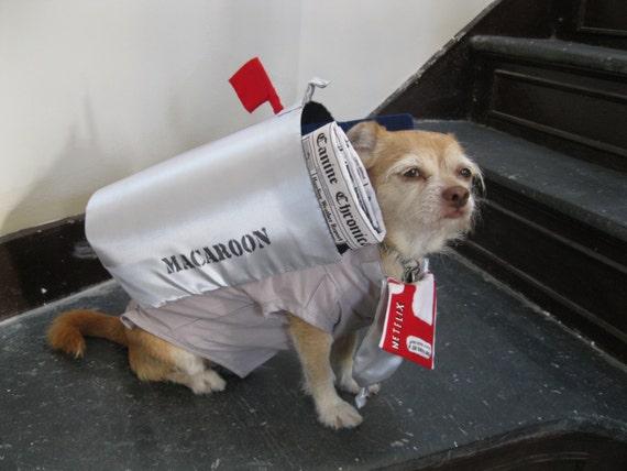 Original Handmade Small Dog Costume - Suburban Mailbox and Letter
