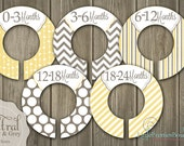 Neutral Baby Closet Organizing Dividers - Assembled