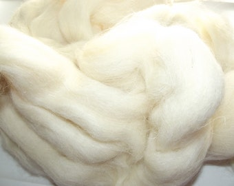 White Welsh Top Roving 8 oz
