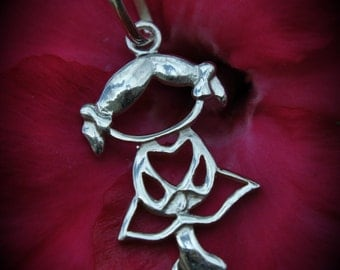 Genuine Sterling Silver Little Girl Pendant
