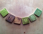 Personalized  Ceramic Letter Magnets Made from Vintage Blocks Ready to Ship