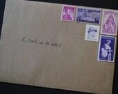 Unused Vintage Postage Stamps - Purple