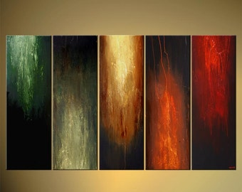 """Large Contemporary Painting, Modern Art on Canvas by Osnat - MADE-TO-ORDER - 60""""x36"""""""
