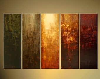 "Large Modern Abstract Earth Tones Painting Original Acrylic Art on Canvas by Osnat - MADE-TO-ORDER - 60""x36"""