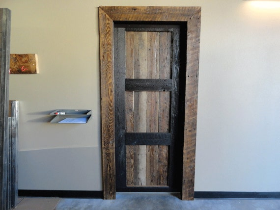 Custom barn wood door 32 inches antique wood by for 40 inch interior barn door