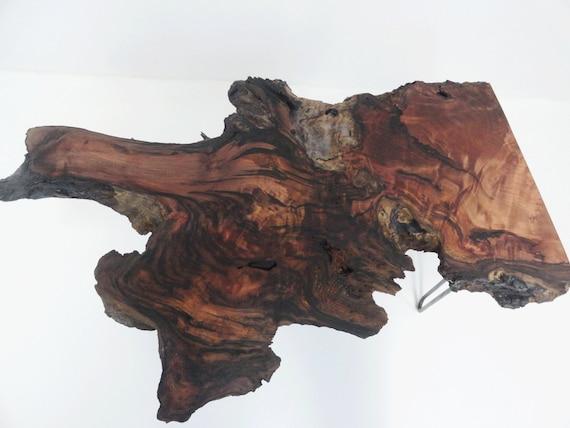Rare Redwood Burl Coffee Table Hairpin Legs