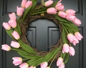Pink Tulip Spring and Summer Wreath