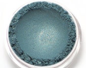 """Teal Eyeshadow with Gold Shimmer - """"Mermaiden"""" - All Natural Vegan Mineral Makeup"""