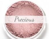 Mineral Blush Sample - Precious (pale baby pink blush, matte) - Vegan natural blush for light to medium skin