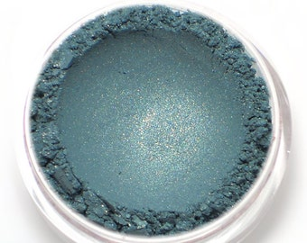 "Teal with Gold Shimmer Eyeshadow - ""Mermaiden"" - Vegan Mineral Eyeshadow Net Wt 2g Mineral Makeup Eye Color Pigment"