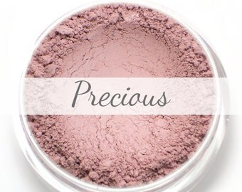 Mineral Blush Sample - Precious (pale baby pink blush, matte) - Vegan natural blush for light to medium skin