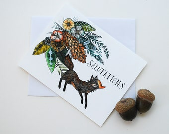 Little Fox Salutations Card