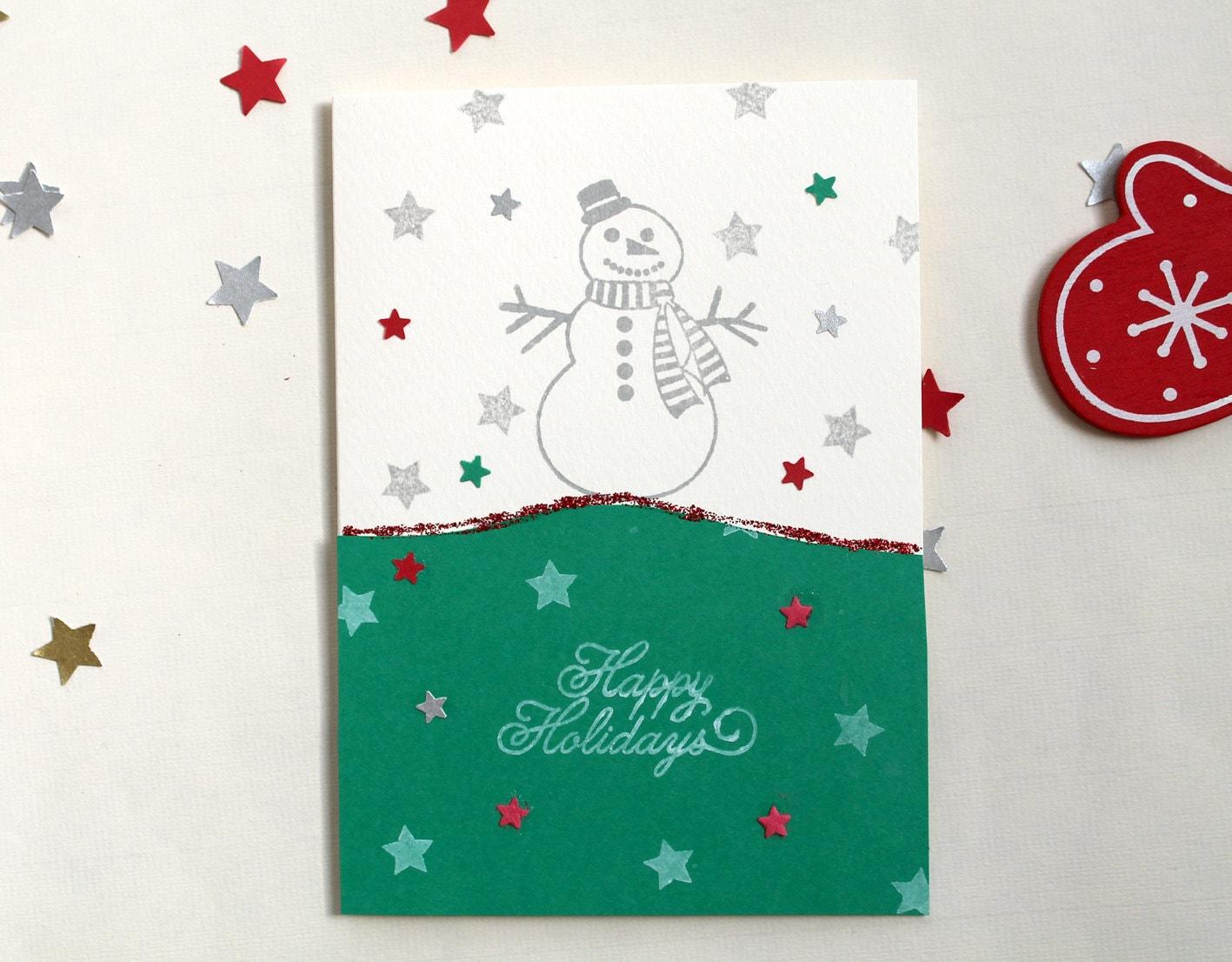 Lighting for Handmade snowman christmas cards