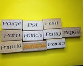 New Unused First Name Rubber Stamps--Female Version Letter 'P'--sold separately--free shipping US