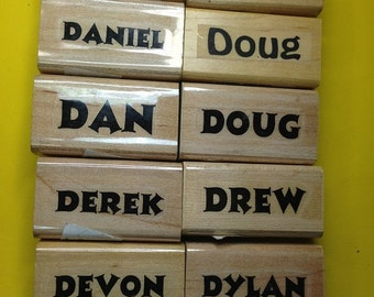 New Unused First Name Rubber Stamps--Male Version Letter 'D'--sold separately--free shipping US