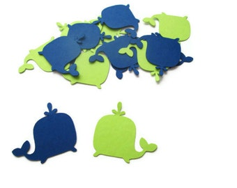 Lime and Navy Whale Confetti - Under the sea, Nautical theme, Whale Baby Showers, Ahoy