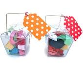 Hair Tie Gift in Chinese Take Out Box -10 Elastic No Tug Hair Ties - Girls Hair Tie Ponytail Gift Set for Little Girls, Tweens, Teens