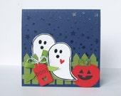 Ghost Card, Halloween Card, Halloween Birthday Card, Halloween Anniversary Card, Happy Halloween, Boo Card, Handmade Card