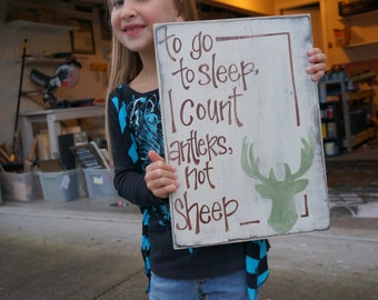 To get to sleep I count antlers not sheep